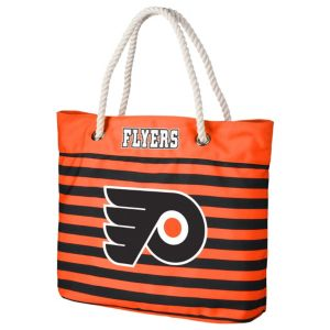 Forever Collectibles Philadelphia Flyers Striped Tote Bag