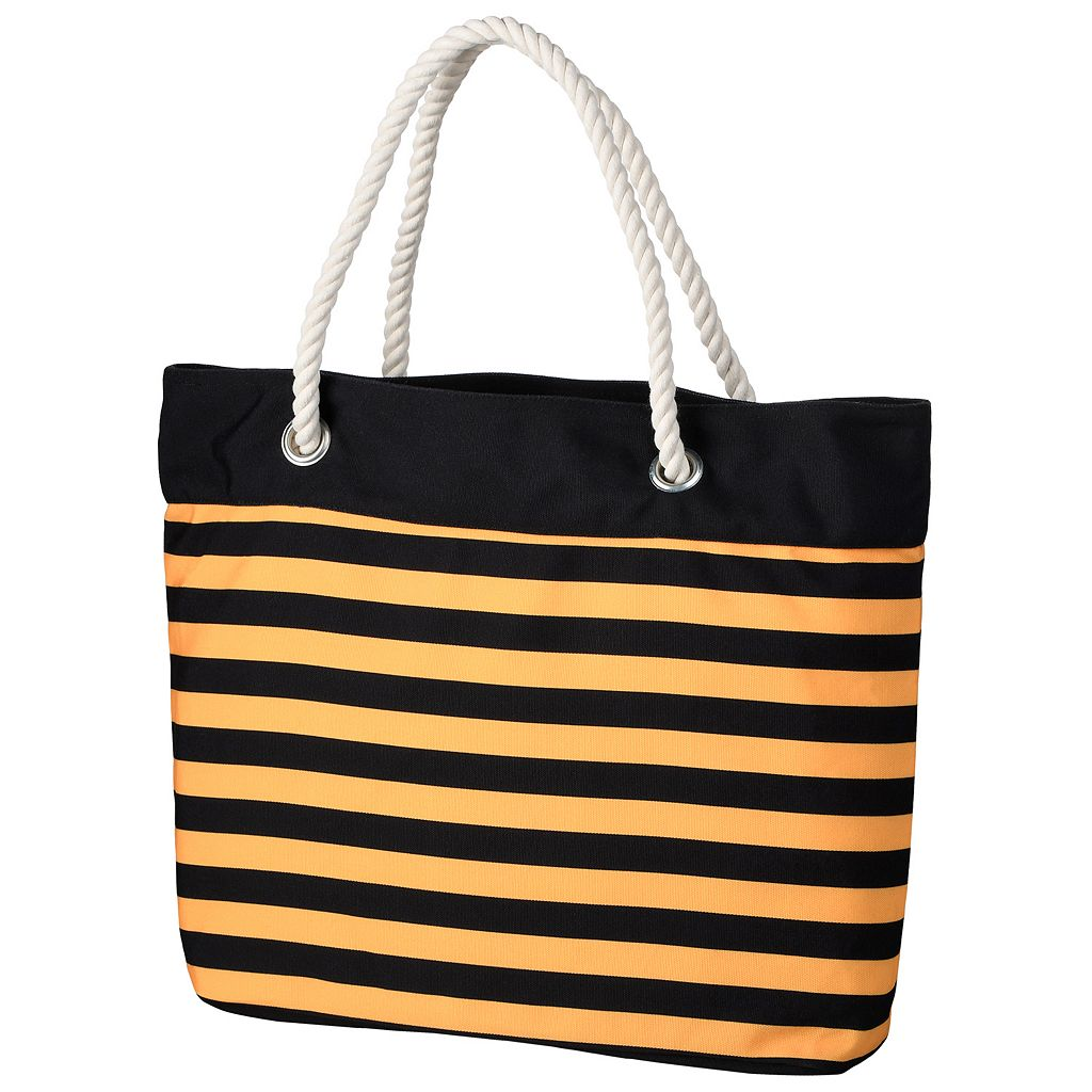 Forever Collectibles Pittsburgh Penguins Striped Tote Bag