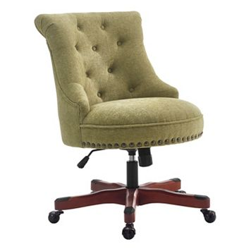 Linon Sinclair Contemporary Nailhead Desk Chair