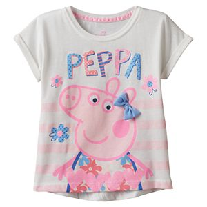 Toddler Girl Peppa Pig Bow Accent Tee