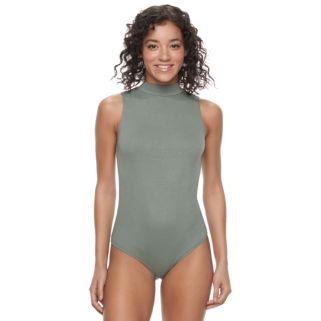 Juniors' Mudd® Mockneck Bodysuit