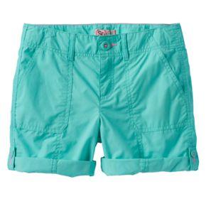 Girls 7-16 & Plus Size SO® Roll-Tab Neon Solid Utility Bermuda Shorts