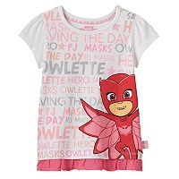 Toddler Girl PJ Masks Owlette Chiffon-Hem Tee