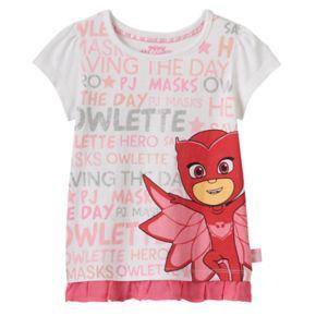 Toddler Girl PJ Masks Owlette Chiffon-Hem Tee