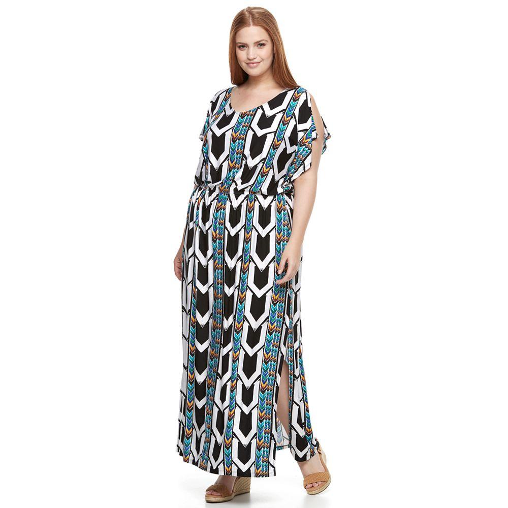 Size Apt. 9® Strappy-Back Maxi Dress
