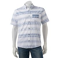 Men's Ocean Current Jacquard Button-Down Shirt
