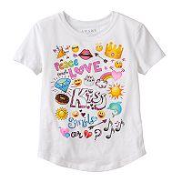 Girls 7-16 Emoji Doodle Graphic Tee