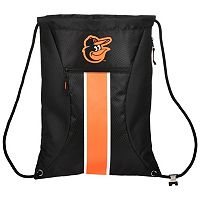 Forever Collectibles Baltimore Orioles Striped Zipper Drawstring Backpack