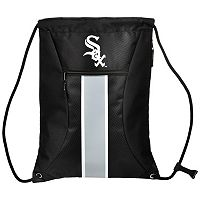 Forever Collectibles Chicago White Sox Striped Zipper Drawstring Backpack