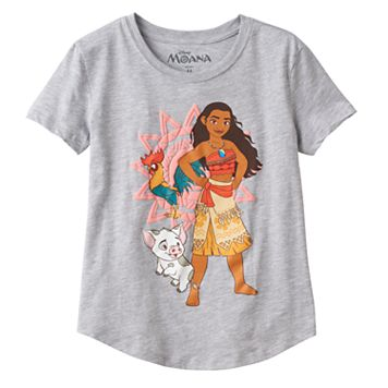 Disney's Moana, Pua & HeiHei Girls 7-16 Puff Print Graphic Tee