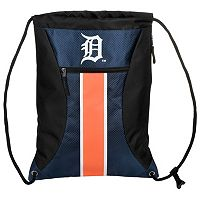 Forever Collectibles Detroit Tigers Striped Zipper Drawstring Backpack