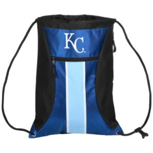 Forever Collectibles Kansas City Royals Striped Zipper Drawstring Backpack