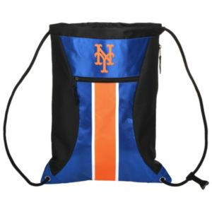 Forever Collectibles New York Mets Striped Zipper Drawstring Backpack