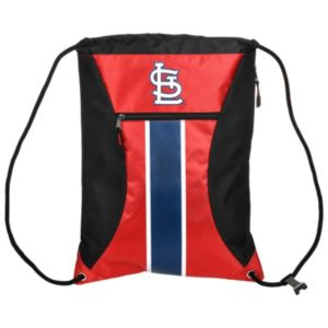 Forever Collectibles St. Louis Cardinals Striped Zipper Drawstring Backpack