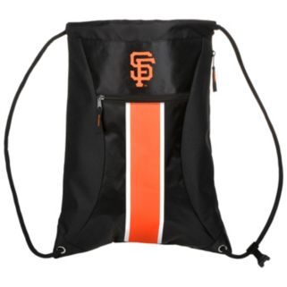 Forever Collectibles San Francisco Giants Striped Zipper Drawstring Backpack