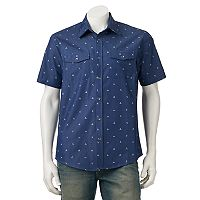 Men's Ocean Current Ratio Button-Down Shirt