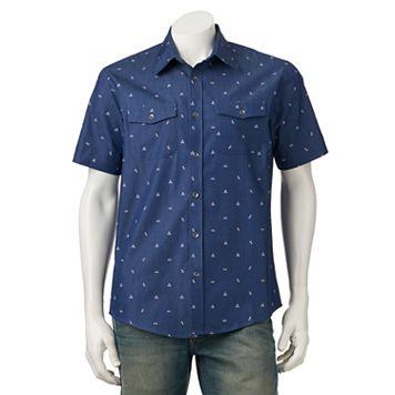 Men's Ocean Current Ratio Button-Down Shirt