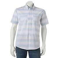 Men's Ocean Current Seahorse Button-Down Shirt