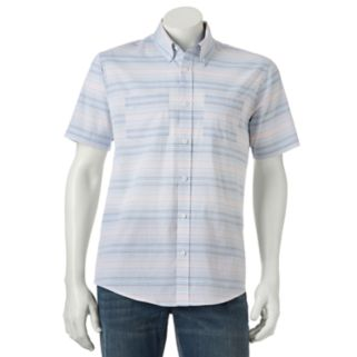 Men's Ocean Current Seahorse Button-Down Shirt