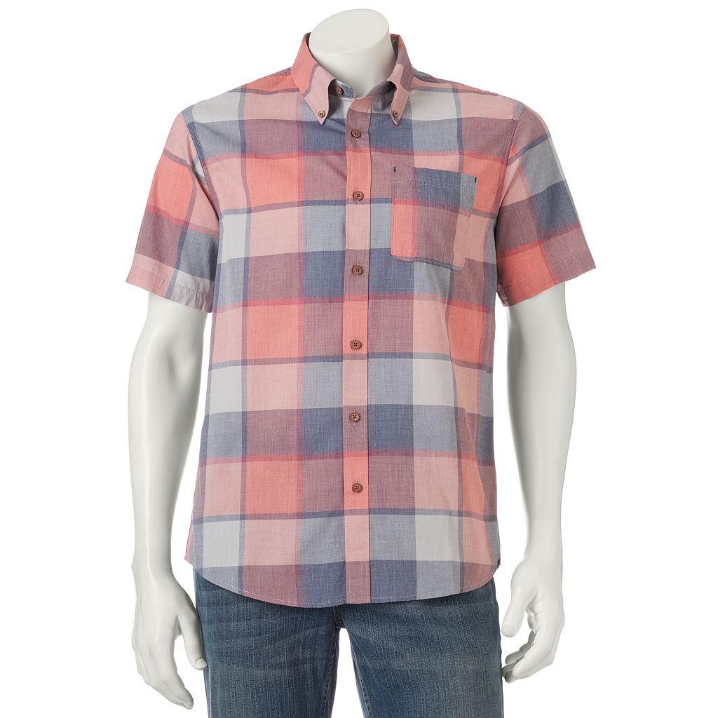 Men's Ocean Current Fuman Plaid Button-Down Shirt
