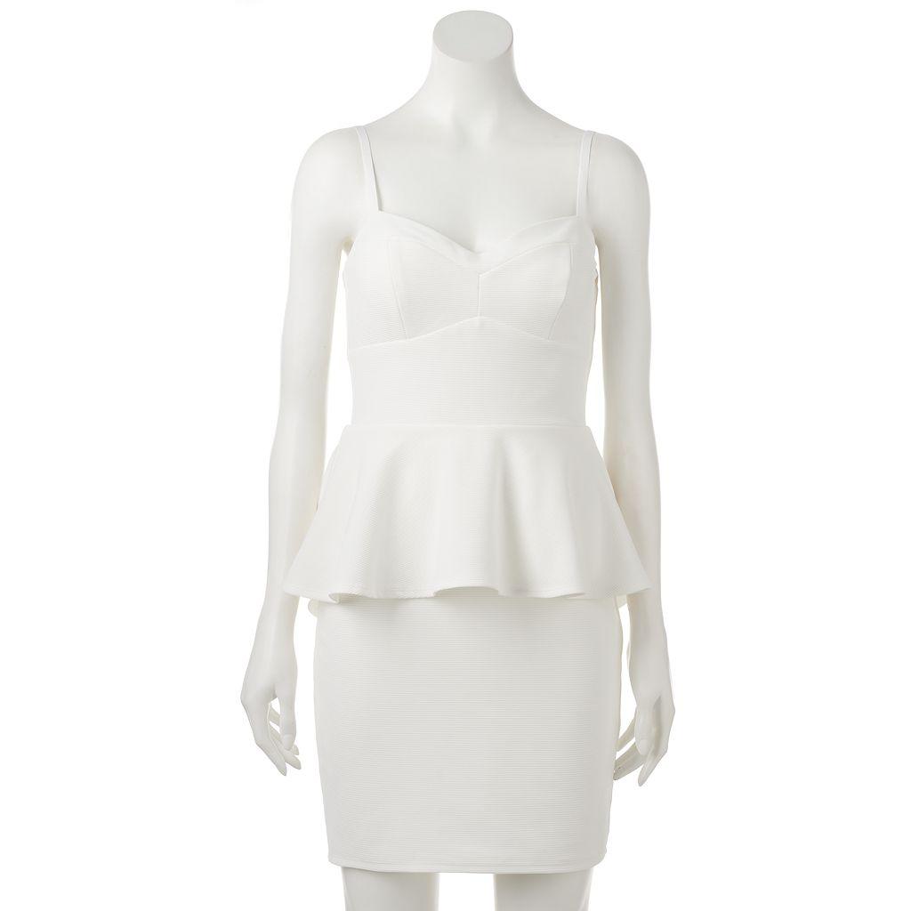 Juniors' Lily Rose Peplum Bodycon Dress