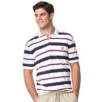 Big & Tall Chaps Striped Polo