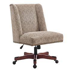 Linon Draper Nailhead Desk Chair
