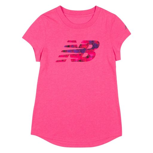 Girls 4-6x New Balance Dolphin Hem Graphic Tee