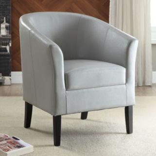 Linon Simon Arm Accent Chair