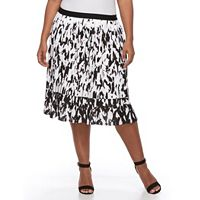 Plus Size Apt. 9® Splatter Accordion-Pleat Skirt