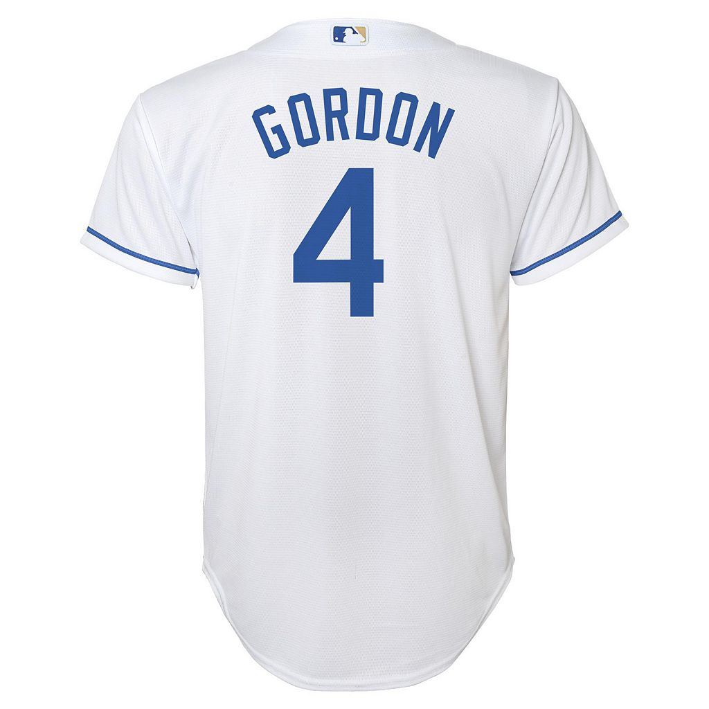 Boys 8-20 Majestic Kansas City Royals Alex Gordon Replica Jersey