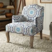 Linon Teena Floral Accent Chair