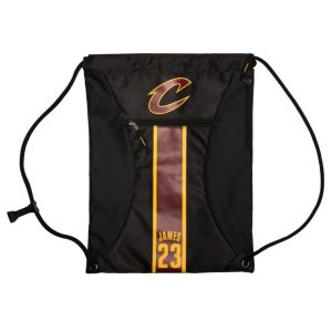 Forever Collectibles Cleveland Cavaliers LeBron James Striped Drawstring Backpack