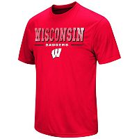 Men's Colosseum Wisconsin Badgers Embossed Tee