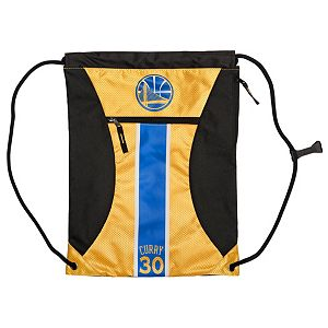 Forever Collectibles Golden State Warriors Stephen Curry Striped Drawstring Backpack