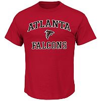 Big & Tall Majestic Atlanta Falcons Wordmark Tee