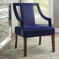 Linon Sylvan Velvet Arm Chair