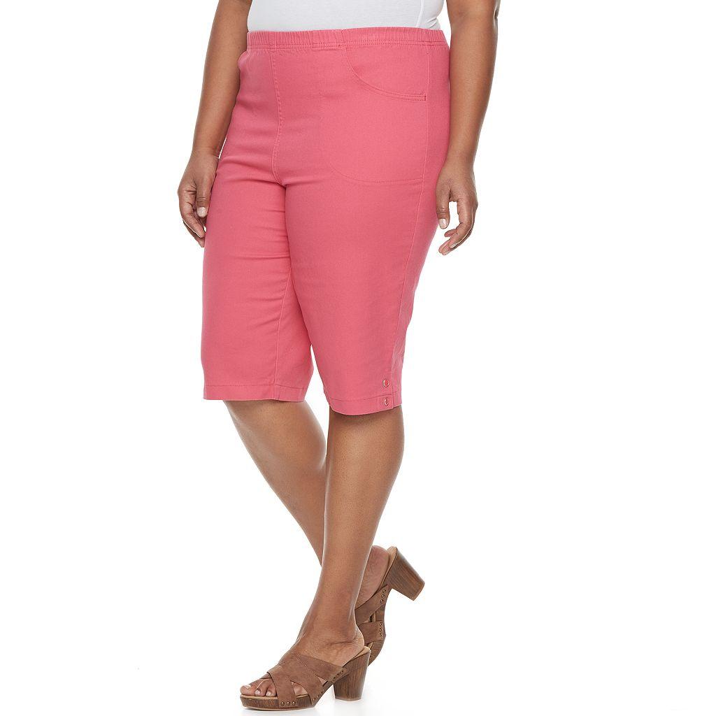 Plus Size Croft & Barrow® Embellished Skimmer Capris