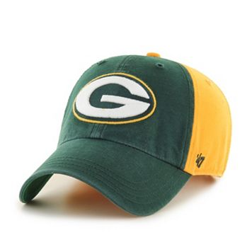 Adult '47 Brand Green Bay Packers Flag Staff Clean Up Adjustable Cap