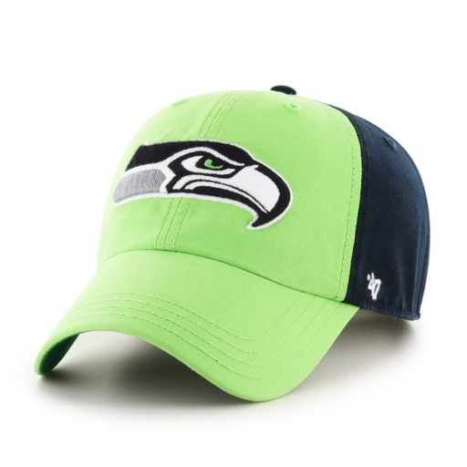 Adult '47 Brand Seattle Seahawks Flag Staff Clean Up Adjustable Cap