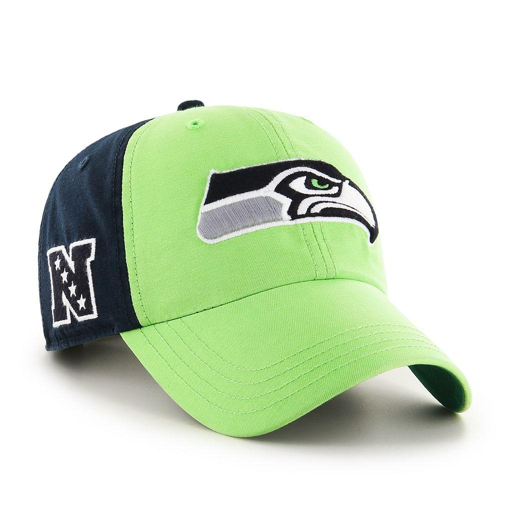 Adult '47 Brand Seattle Seahawks Flag Staff Clean Up Adjustable Cap