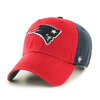 Adult '47 Brand New England Patriots Flag Staff Clean Up Adjustable Cap