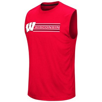 Men's Colosseum Wisconsin Badgers Circuit Muscle Tee