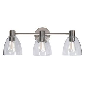 Kenroy Home Edis 3-Light Glass Vanity Light
