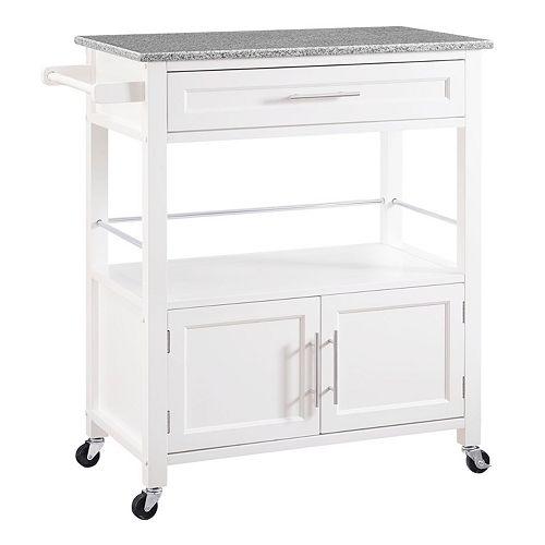 Linon Cameron Rolling Kitchen Cart