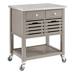 Linon Robbin Rolling Kitchen Cart