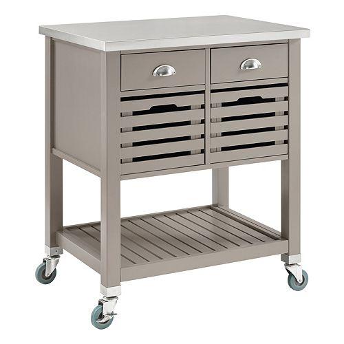 Linon Robbin Rolling Kitchen Cart