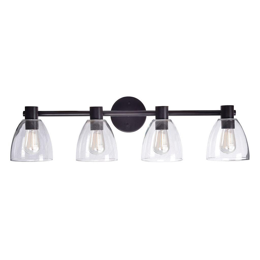 Kenroy Home Edis 4-Light Glass Vanity Light