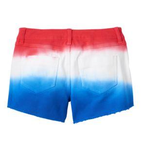 Girls 7-16 & Plus Size SO® Americana Dip-Dye Ombre Jean Shorts