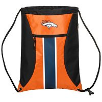 Forever Collectibles Denver Broncos Striped Zipper Drawstring Backpack